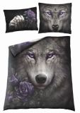 WOLF SOUL DOUBLE DUVET SET-UK/EU PILLOW CASES